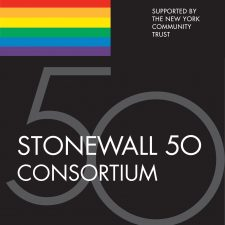 Logo for Stonewall 50 Consortium - Supported by the New York Community Trust