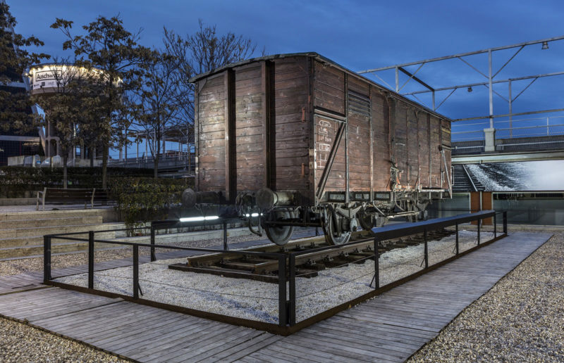 Rail Car Artifact from Auschwitz Traveling Exhibition