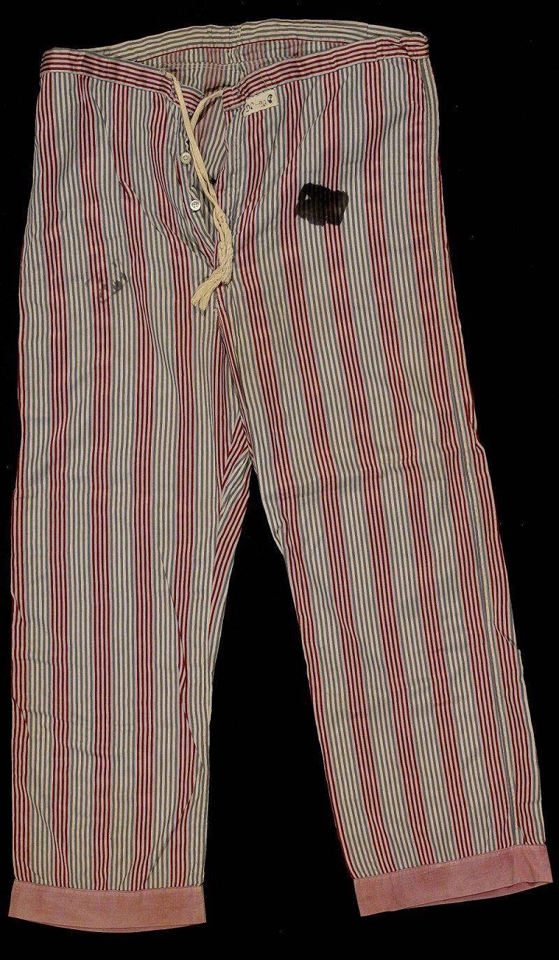 Pajama bottoms taken from Auschwitz warehouse