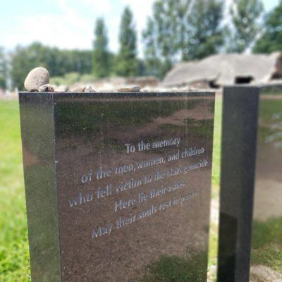 Headstone at Auschwitz II- Birkenau