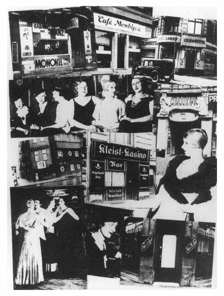 Collage on the closing of gay and lesbian bars in Berlin, from Vienna newspaper Der Notschrei (The Cry for Help), March 4, 1933. Source: United States Holocaust Memorial and Museum