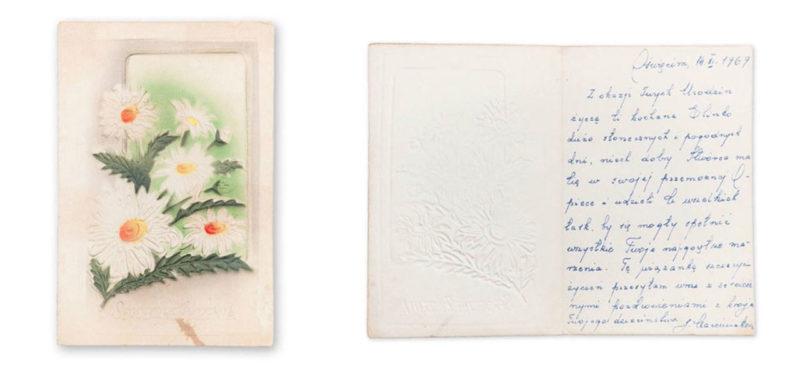 Card from Jadwiga Marciniak to Elina, 1969.