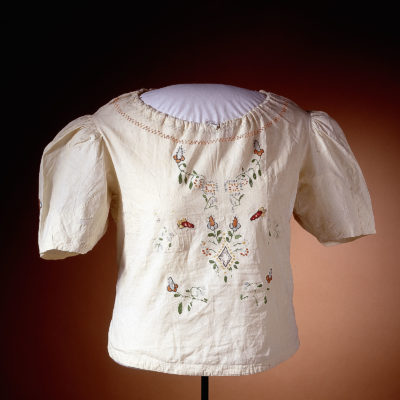 Chaya Porus Embroidered Blouse in the Auschwitz. Not long ago. Not far away. exhibition
