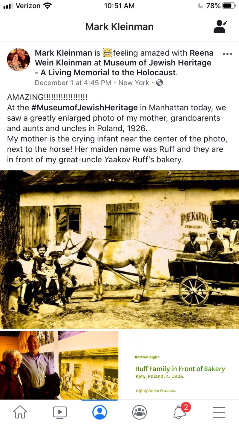 Mark Kleinman Facebook Post