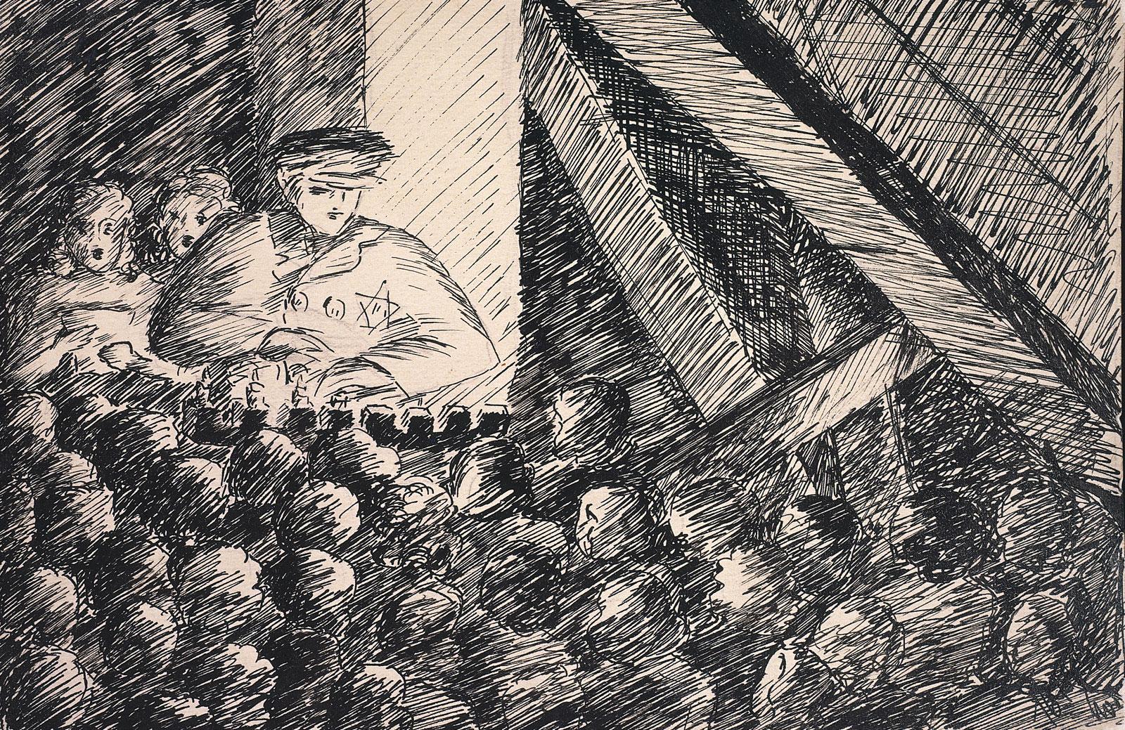 Helga Weissova drawing