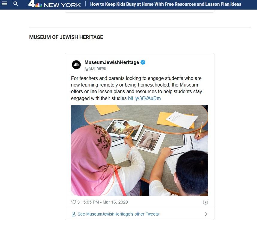 NBC New York Article screenshot