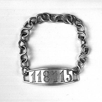 Mauthausen identification bracelet of Sol Moskowitz