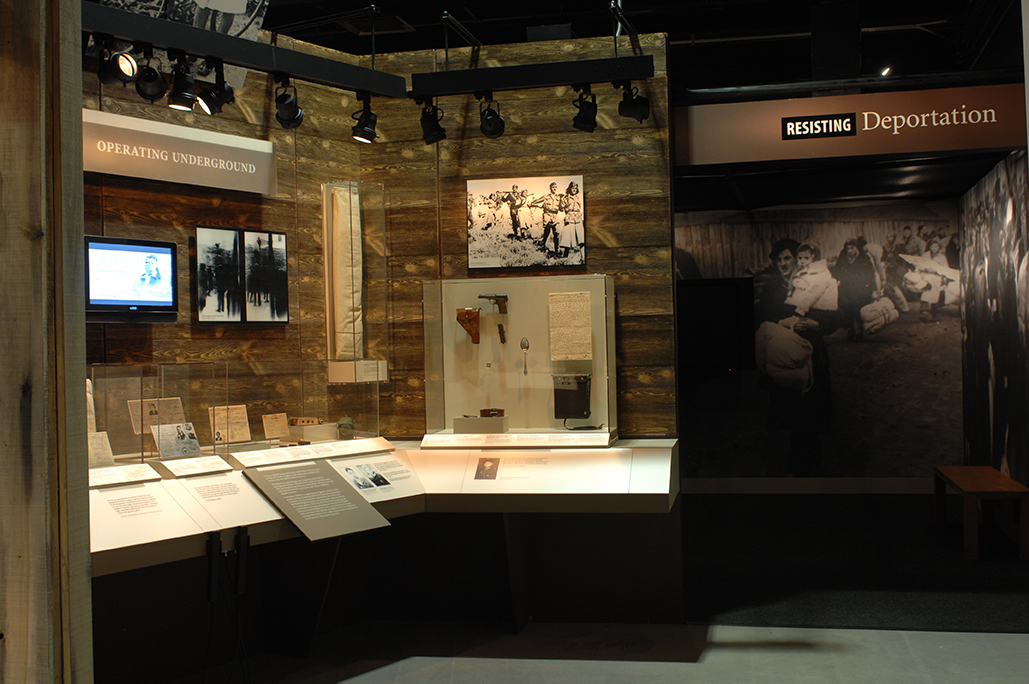 """Deportation area of the exhibition """"Daring to Resist"""""""