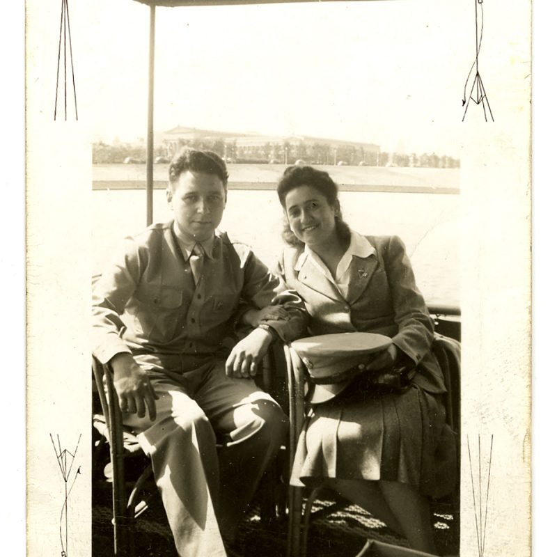 Julian and Bertha Lowitt on their wedding day in May 1942