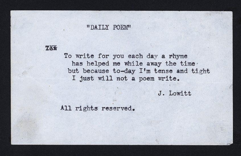 Gift of Bertha Lowitt.