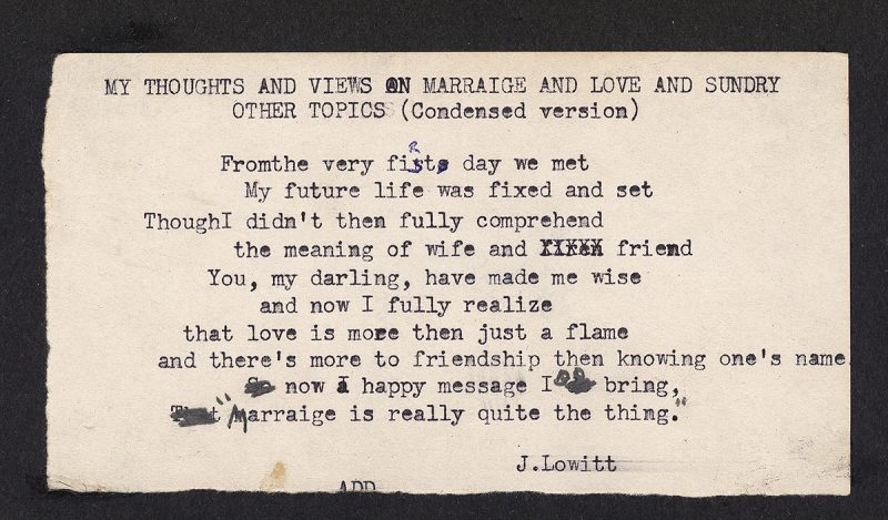 Marriage Poem