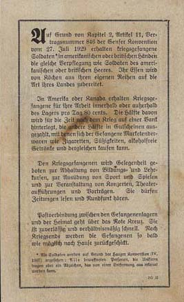 Appeal to German soldiers to give themselves up as prisoners of war