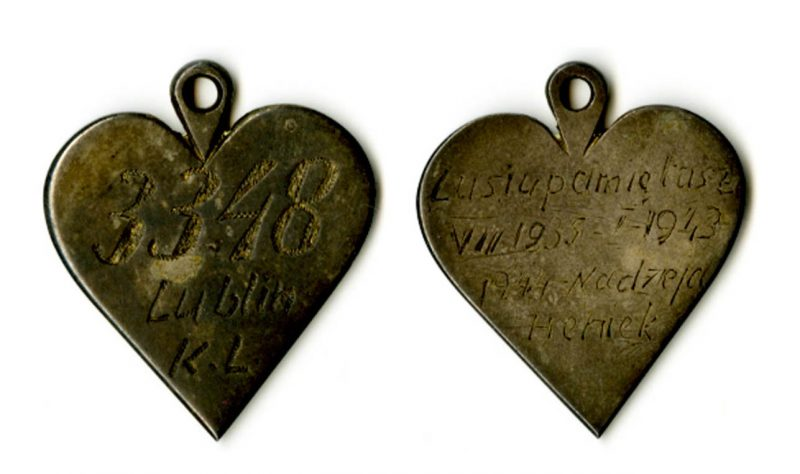 Heart smuggled out of Majdanek from Henryk Wieliczanski to his wife