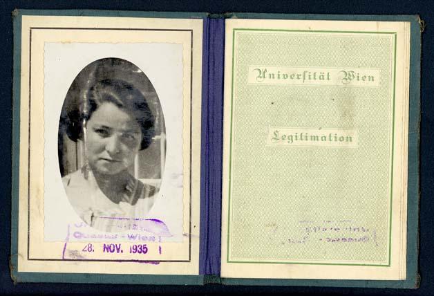 University of Vienna student identification card for Regina Halbrecht.