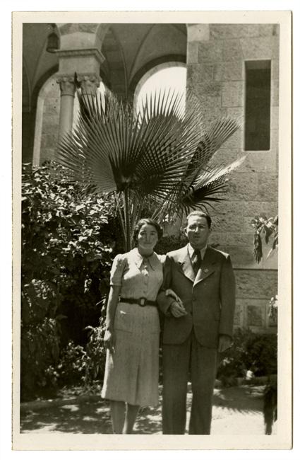 Walter and Regina Berman in Palestine, 1939.