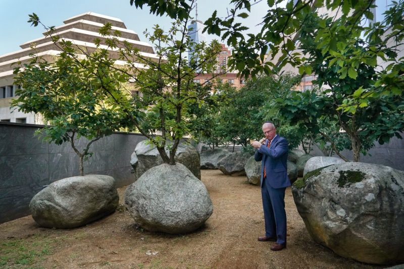 James Tisch in the Garden of Stones