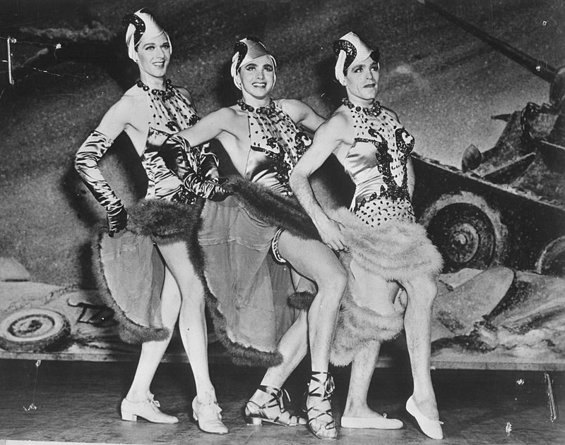 Three soldiers perform in drag in This is the Army, 1942
