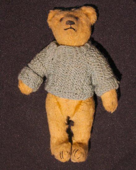 Eva Holzer's teddy bear