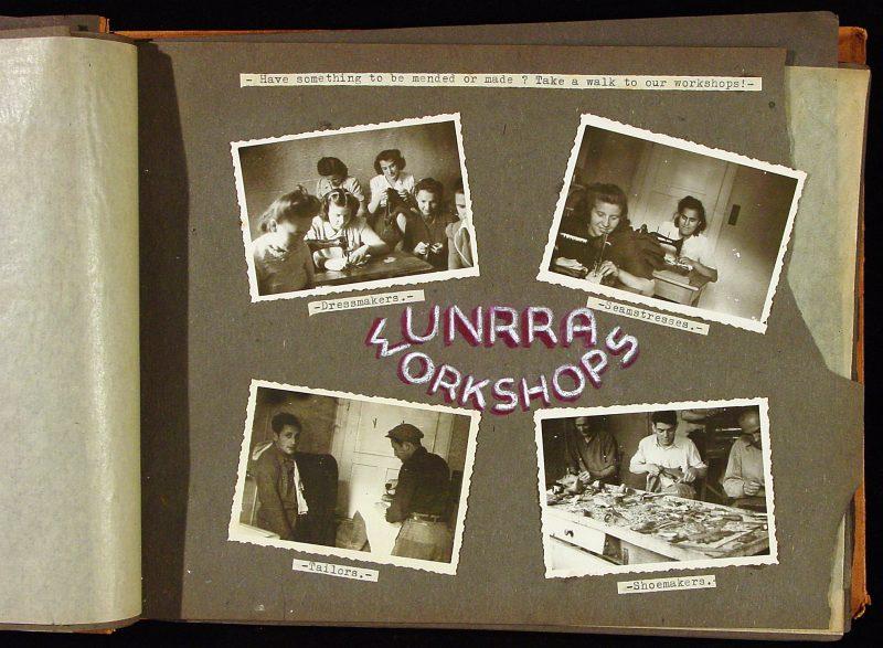 Photograph album of scenes at Bad Gastein DP Camp, 1946