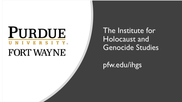 Purdue University Fort Wayne Institute of Holocaust and Genodide Studies logo