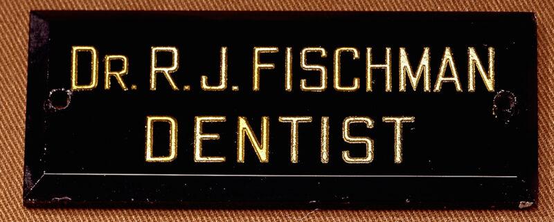 Plaque of Dr. Rose Fischman