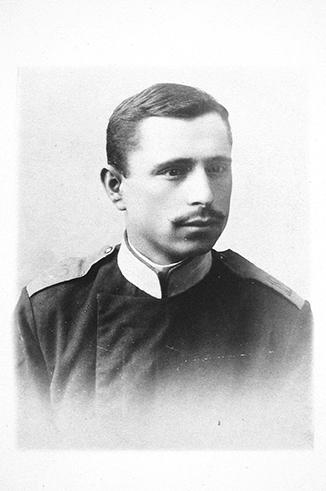 Samuel Spector c. 1901 – 1904 wearing his Russian military uniform.