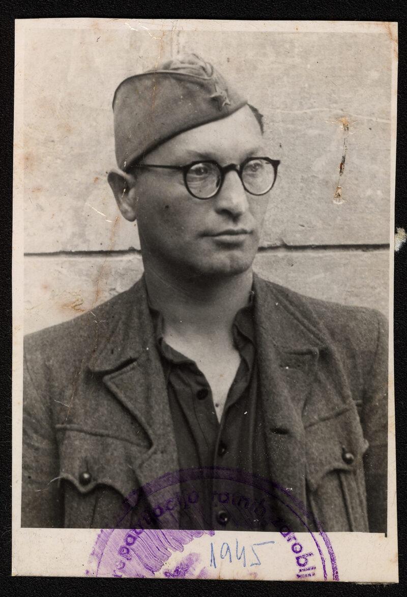 Photograph of Vladimir Knezic taken in 1945 after liberation.
