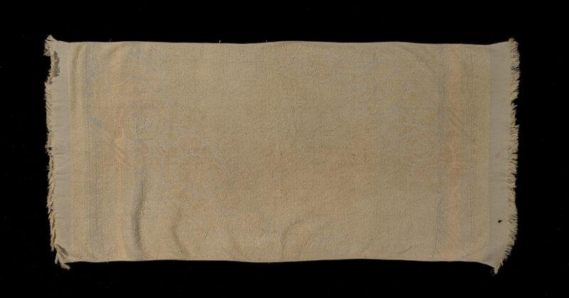 Towel belonging to Rachel and then Chaya Porus, 1943-1944.