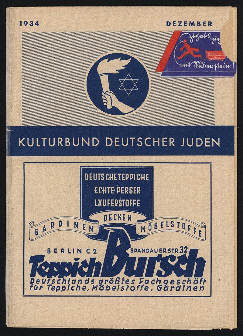 Kulturbund Deutscher Juden program, December 1934.