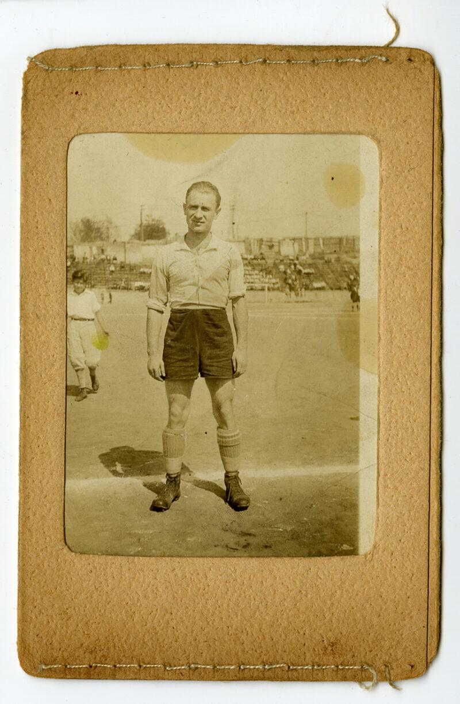 Paul Mahrer in soccer uniform standing on a soccer field
