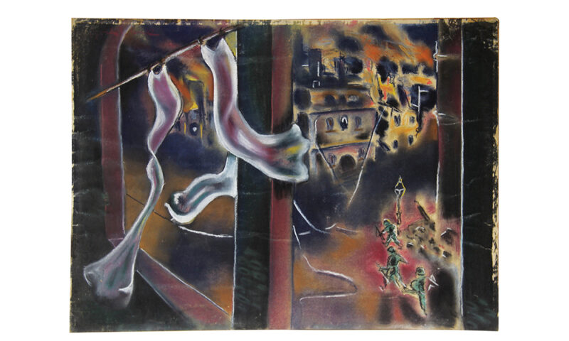 Liberation of Magdeburg 1946 by Boris Lurie