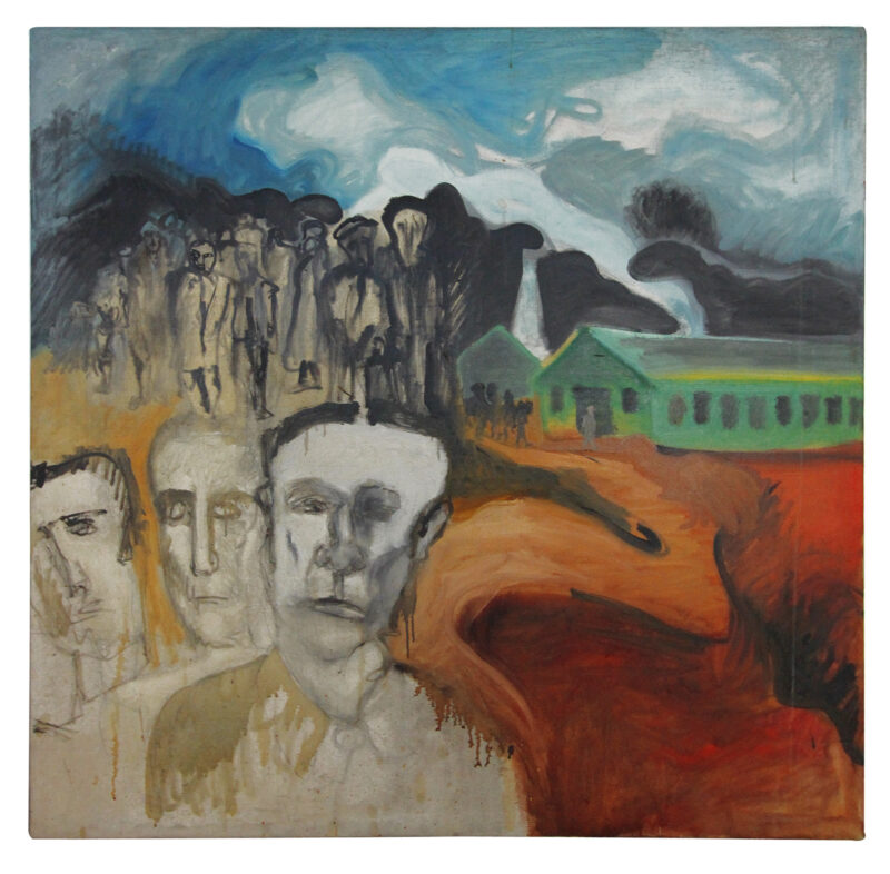 """""""In Concentration Camp"""" by Boris Lurie, 1971"""
